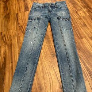 White House Black Market Skimmer Blue Jeans Denim
